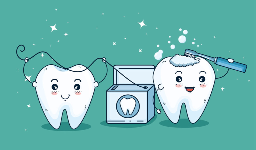 rapprensentazione di un sorriso con denti bianchi e sani