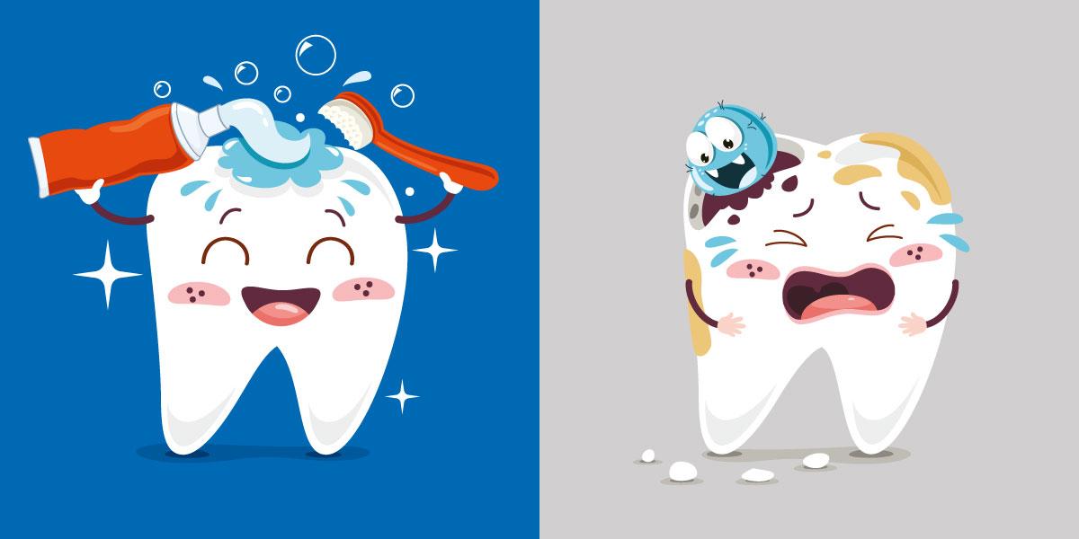 igiene orale contro le carie dentali